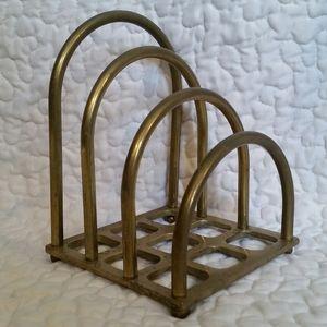 Vintage Brass Arch Letter Organizer Holder